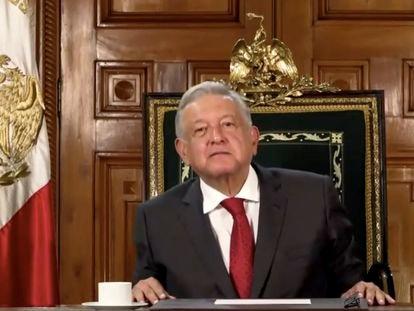 López Obrador, durante su discurso ante Naciones Unidas.