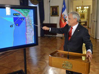 Sebastián Piñera, el presidente chileno, explica los alcances del fallo de La Haya
