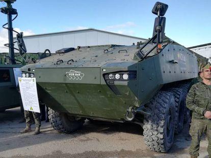 Prototipo del vehículo 8x8 Dragón en el campo de maniobras de San Gregorio (Zaragoza), a finales de noviembre.