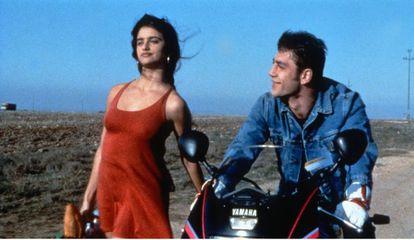 Penélope Cruz y Javier Bardem en una escena de 'Jamón, Jamón'