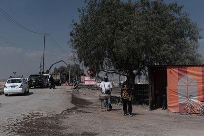 Las obras vistas desde el municipio de San Miguel de Xaltocan.