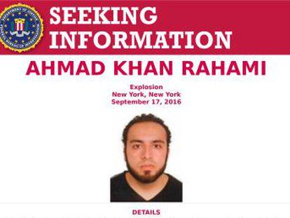 Khan Rahami ha sido arrestado tras un tiroteo en Nueva Jersey. Es un estadounidense nacido en Afganistán de 28 años. La policía interroga a otras cinco personas