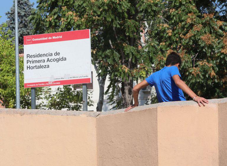 Centro de acogida, en el barrio de Hortaleza.