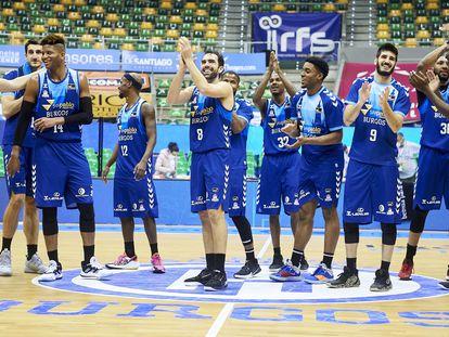 Los jugadores del San Pablo Burgos celebran uno de sus triunfos. acbmedia