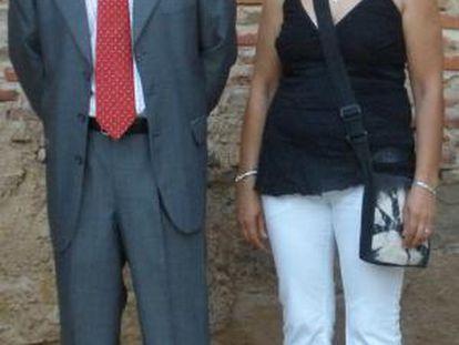 Heliodoro Calderón, alcalde de Villalobos, y Mercedes Caso, teniente alcalde.