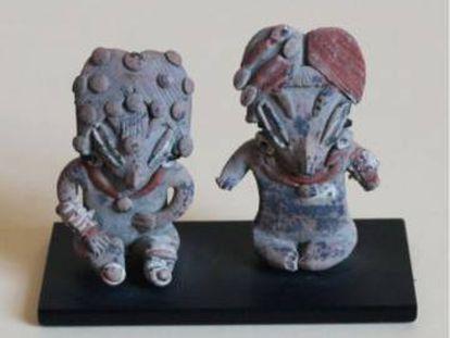 Figuras de la colección prehispánica del Museo Mexicano de San Francisco.