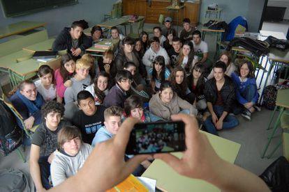 Alumnos de Cultura Audiovisual del instituto Concepción Arenal de Ferrol.