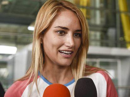 Alba Carrillo, a su llegada a Madrid.
