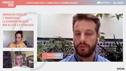 Nicola Cerantola, director de la empresa Ecologing, durante la conferencia.