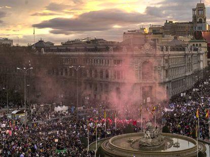 Manifestación feminista del 8 de marzo en Madrid.