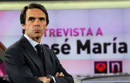 José María Aznar, en la entrevista concedida a Antena 3.