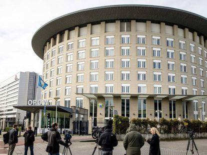 Vista de la sede de la Organización para la Prohibición de las Armas Químicas en La Haya este miércoles.