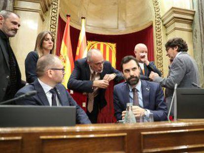 Una resolución en el Parlament se reafirma en la autodeterminación