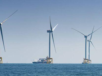 El parque eólico marino de Iberdrola East Anglia One, en aguas del Reino Unido, en una imagen de archivo facilitada por la compañía.