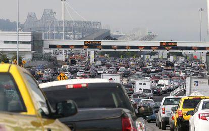 El tráfico en la bahía de San Francisco.