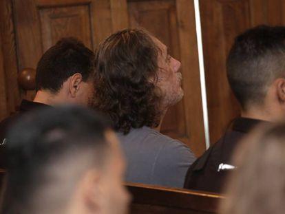 El narco Sito Miñanco, en un momento del juicio.
