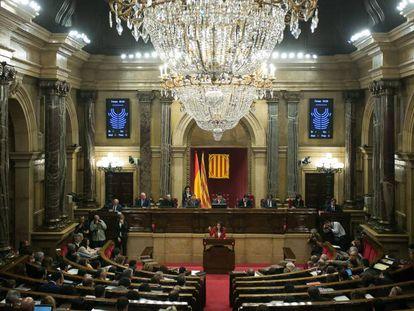 Vista general del hemiciclo catalán.