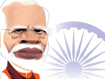 Narendra Modi ,por Luis Grañena