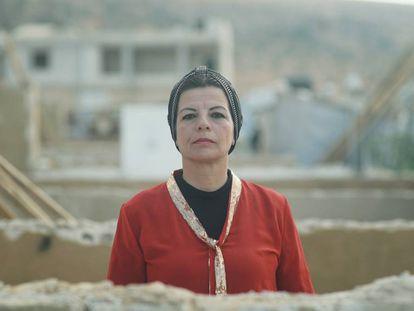 Hiam es la única mujer en el Comité de Refugiados, desde donde lucha por denunciar los problemas que ella misma ha vivido.