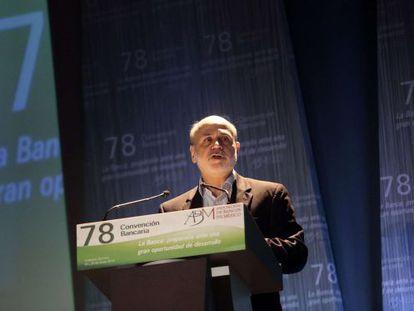Bernanke, durante su intervención en la Convención Bancaria