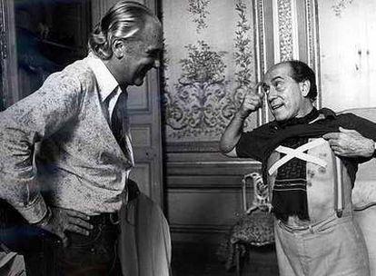 Con José Luis López Vázquez en una escena de  <i>Patrimonio Nacional</i>, de Berlanga.