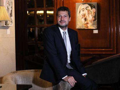 El ministro de Turismo y Deportes de Argentina, Matías Lammens, durante la entrevista en Madrid.