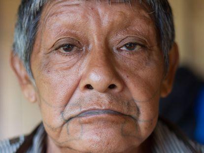 Aruká Juma, el último varón de los indígenas del pueblo juma, fallecido por coronavirus este miércoles en Porto Velho en una foto cedida por la ONG Kanindé.