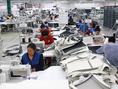 Fábrica manufacturera en el Estado de Tlaxcala, México, en septiembre.