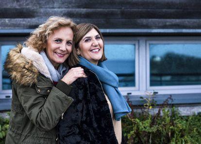 Elena Irureta y Ane Gabarain, protagonistas de la serie 'Patria'.