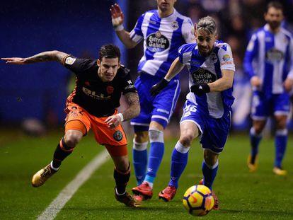 El Deportivo se enfrenta al Valencia en la jornada 19 de la Liga Santander