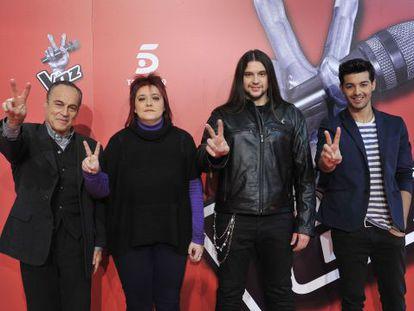 Los cuatro finalistas de 'La voz': de izquierda a derecha, Pau, Maika, Rafa y Jorge