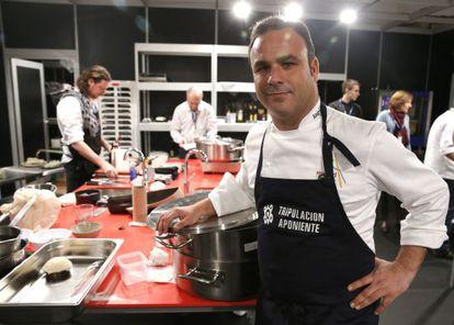 Ángel León, cocinero del restaurante A Poniente, en Madrid Fusión.