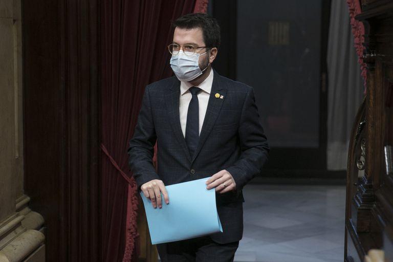 Pere Aragonès, vicepresidente del Govern, esta semana, en el Parlament.
