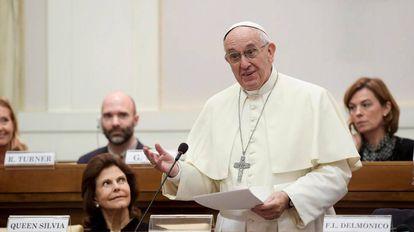 El papa Francisco durante una audiencia en Roma.