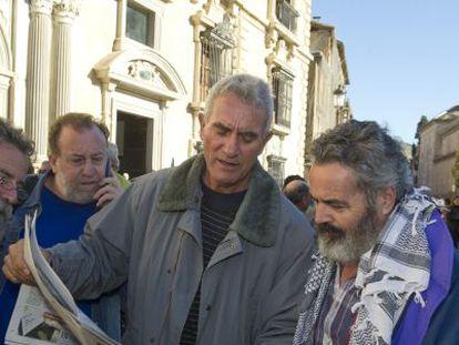 Diego Cañamero y Juan Manuel Sánchez Gordillo.