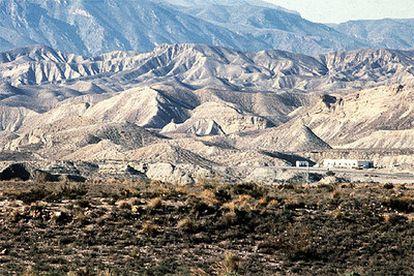 Vista general del desierto de Tabernas, en Almería.