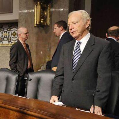 El senador independiente Joe Lieberman, hoy en la Cámara Alta