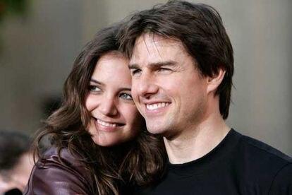 Los actores Katie Holmes y Tom Cruise, cuando estaban juntos.