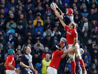 Imagen del choque del Seis Naciones disputado el 9 de marzo entre Escocia y Gales
