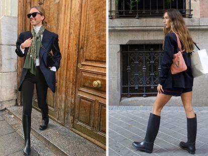 Dos de los 'looks' de calle que proponen con estas botas las 'influencers' Lucía Bárcena (luciabarcena) y Grace Villarreal (gracyvillarreal) en sus perfiles de Instagram.