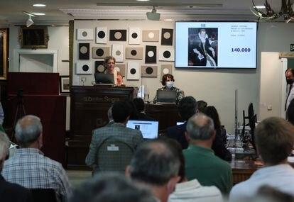 """Subasta del cuadro """"Retrato de Lavinia Fontana"""" en la sala Segre."""