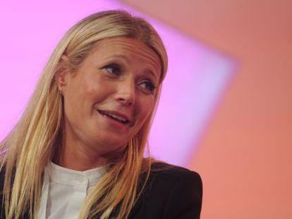 La actriz Gwyneth Paltrow en una conferencia en Nueva York.