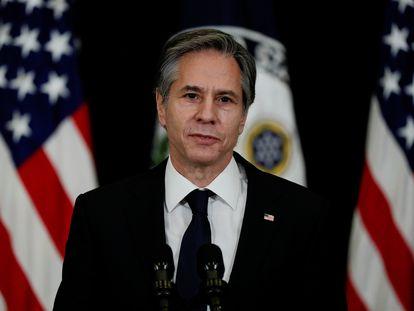 El secretario de Estado de EE UU, Antony Blinken, en una rueda de prensa el 4 de febrero.
