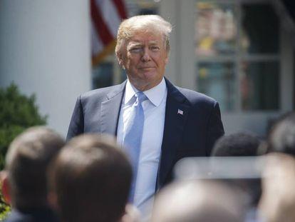 Trump, este lunes en la Casa Blanca.