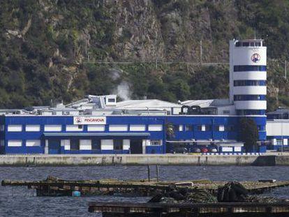 Sede principal de Pescanova en Chapela ( Redondela), en la ría de Vigo.