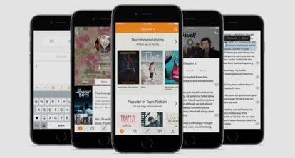 La app Wattpad, que permite leer libros electrónicos en el móvil.