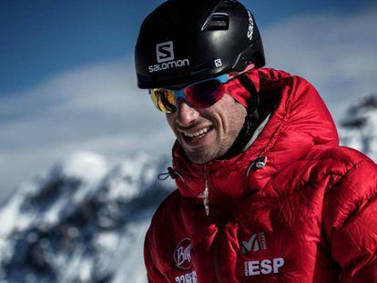 Kilian Jornet, el pasado 8 de febrero en Puy-Saint-Vincent. En vídeo, imágenes del documental 'Camino al Everest.
