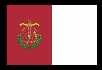 Diseño de la nueva bandera de Guadix, aprobada por su ayuntaimento y pendiente de aceptación por parte de la Junta de Andalucía.