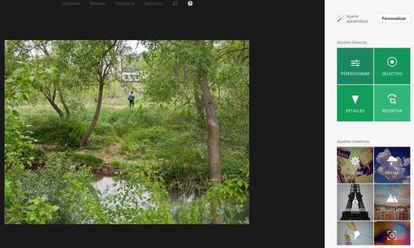 Opciones para modificar fotografías con Google.