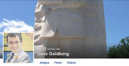 Imagen de un perfil de Facebook convertido en página conmemorativa de un fallecido.